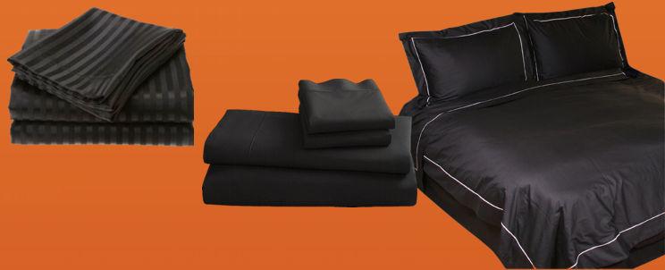 sábanas negras