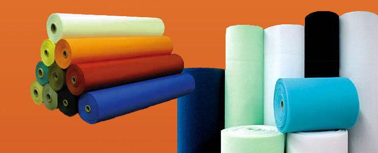 Texturas, hebras, colores y materiales de telas en blanquería