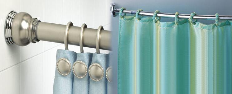 Barras para la cortina del ba o casa blanqueria - Cortinas para banera ...