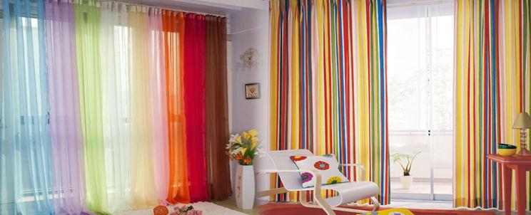 Colores vivos para cortinas
