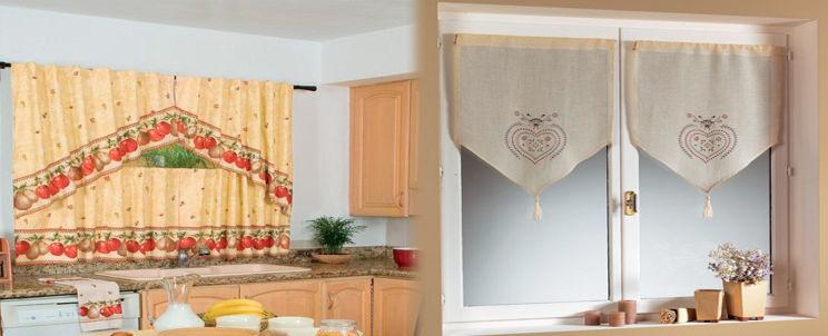 cortinas de cocina clásicas y modernas