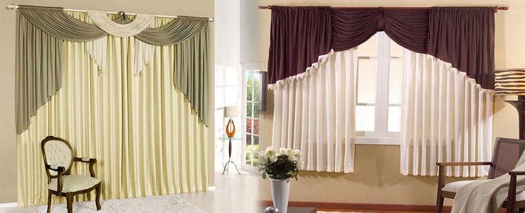 Cortinas drapeadas casa blanqueria for Estilos de cortinas