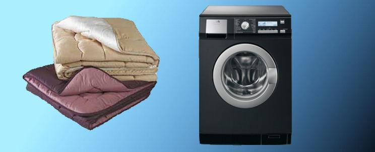 lavar edredones en una lavadora
