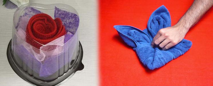 dar a tus toallas formas de flores