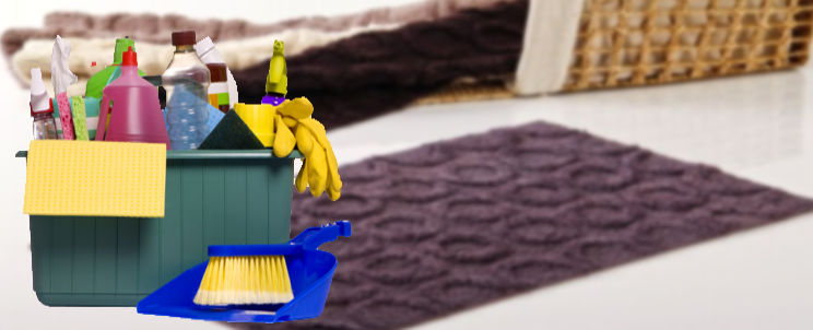 lavar alfombras de baño