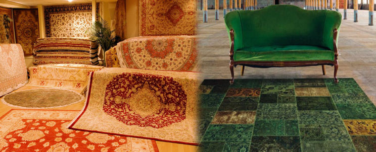 Alfombra persas alfombra persa patchwork negro una for Alfombras persas chile