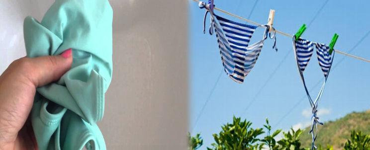 cómo lavar los bikinis