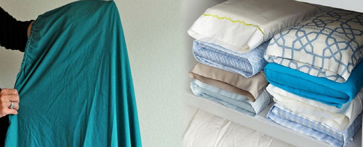 trucos para doblar las sábanas