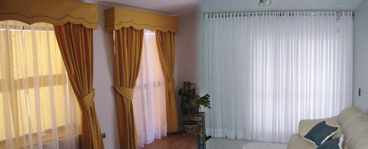 de qué telas son las cortinas finas