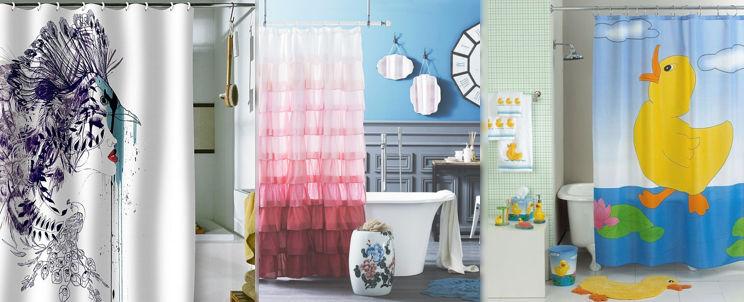 Cortinas De Baño Personalizadas:Cortina de baño personalizada, divertidas y modernas