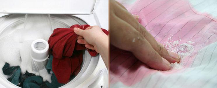 quitar manchas de ropa desteñida