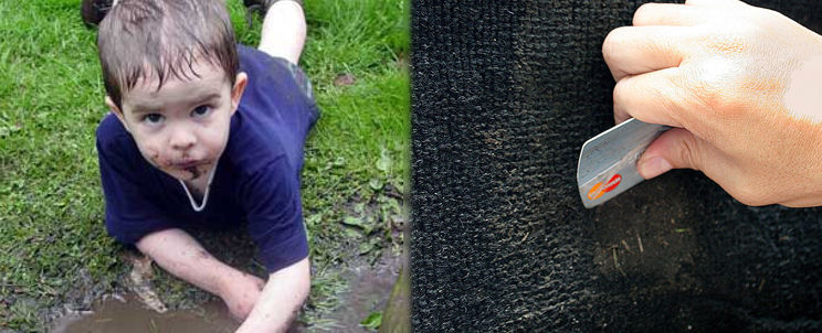 quitar manchas de barro