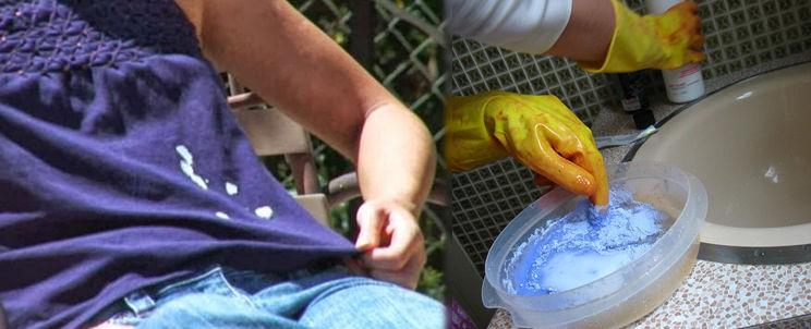 quitar manchas de lavandina