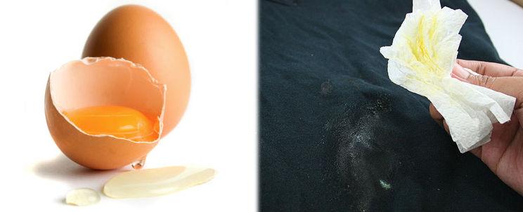 limpiar manchas de huevo