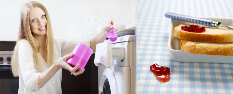 limpiar manchas de mermelada