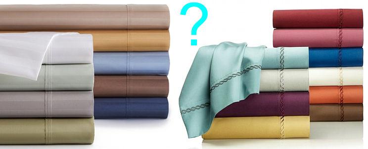 sábanas de algodón egipcio o de algodón pima