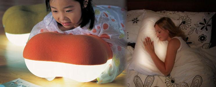 almohadas con luz
