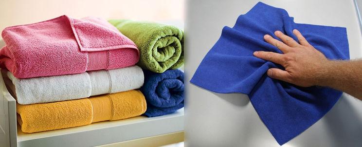 toallas de algodón o de microfibra